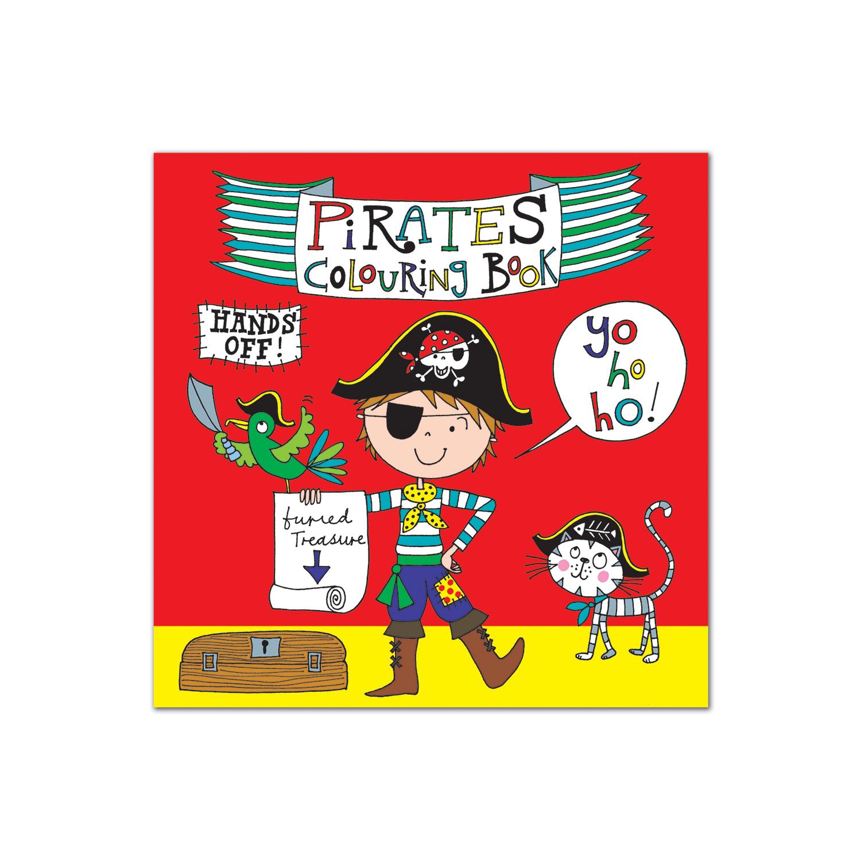 英国原产Rachel Ellen Designs海盗儿童画图本填色本涂色本 彩色