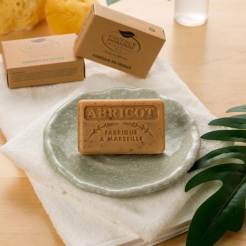 法国原产FOUFOUR精油天然手工皂马赛皂沐浴皂洗脸皂洁面保湿 杏仁