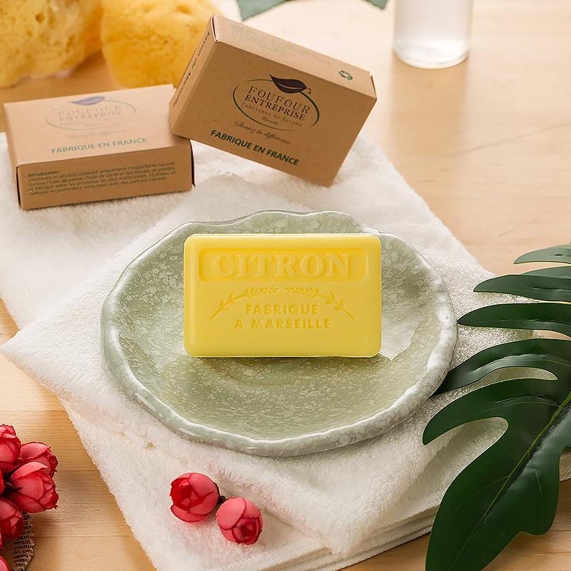 法国原产FOUFOUR手工皂马赛皂保湿补水洗脸皂洁面香皂柠檬 柠檬