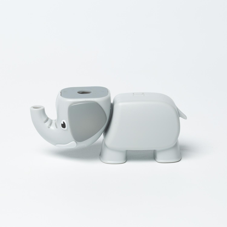 韩国原产Aqua Animal水喷射功能牙刷盖牙刷储存盒大象 灰色