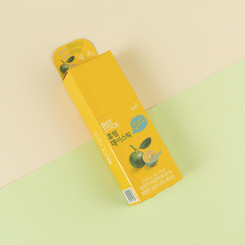 韩国原产HURUMGINSENG浓缩卡曼桔果汁饮料便携装12gX10包 黄色