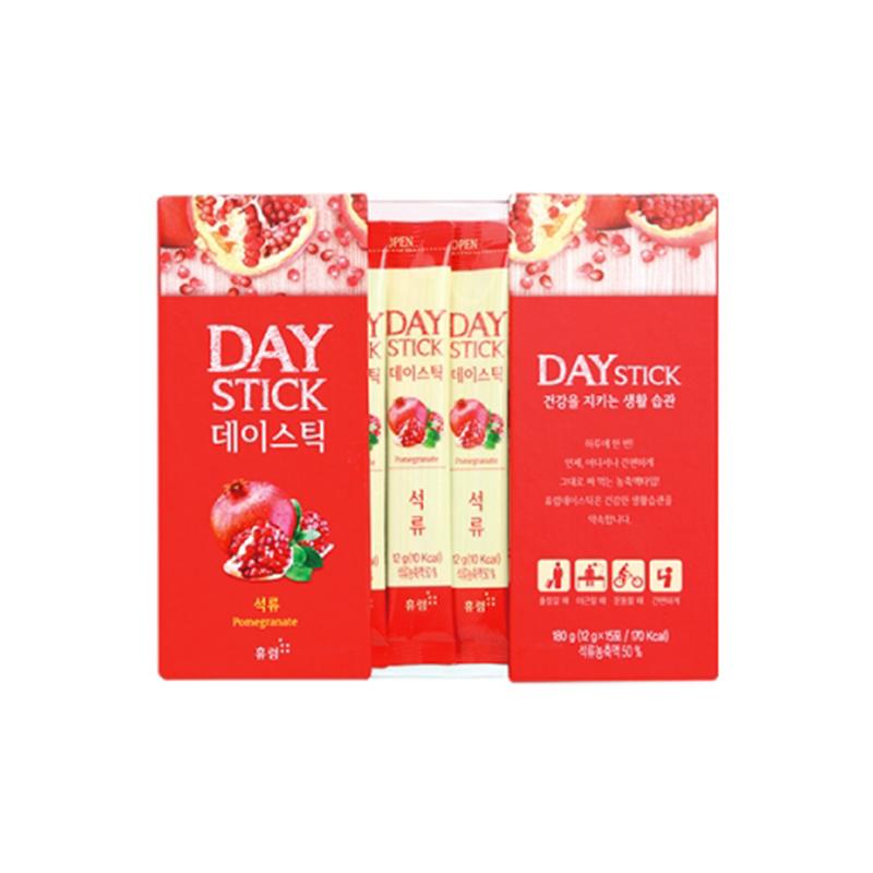 韩国原产HURUMGINSENG浓缩石榴汁果汁饮料礼盒装(12gX15包) 红色