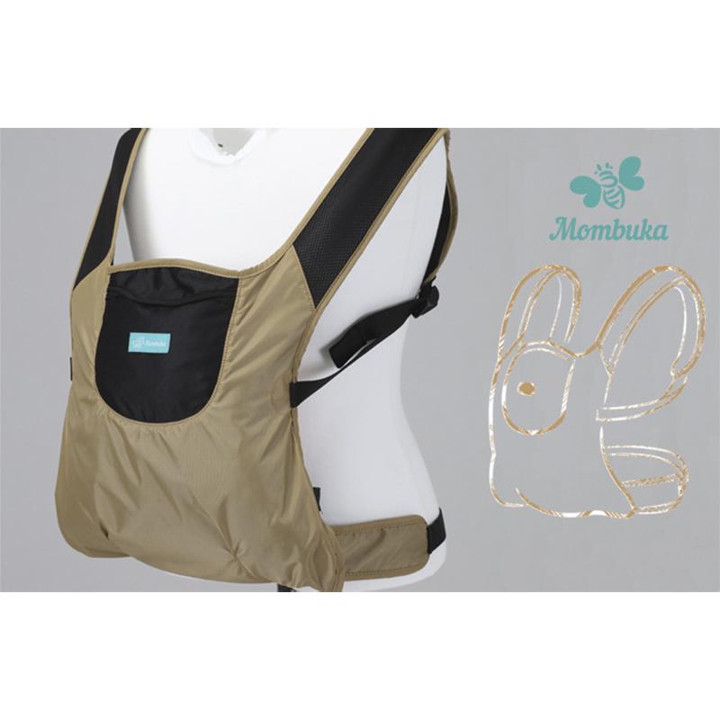 韩国原产MOMBUKA防水背婴带婴儿背带抱凳腰凳 米黄