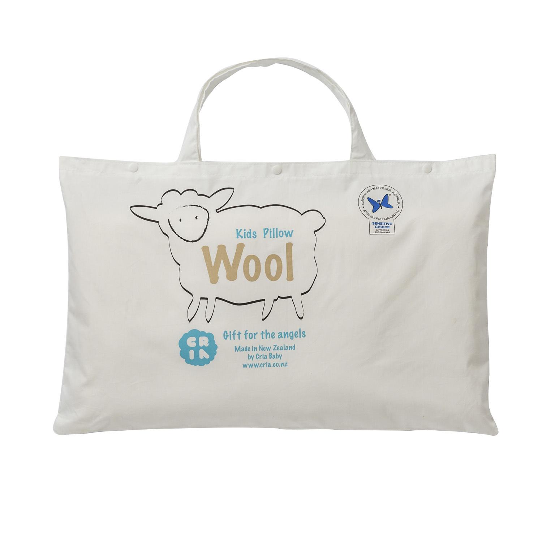 新西兰原产CRIA纯手工儿童羊毛枕 乳白色