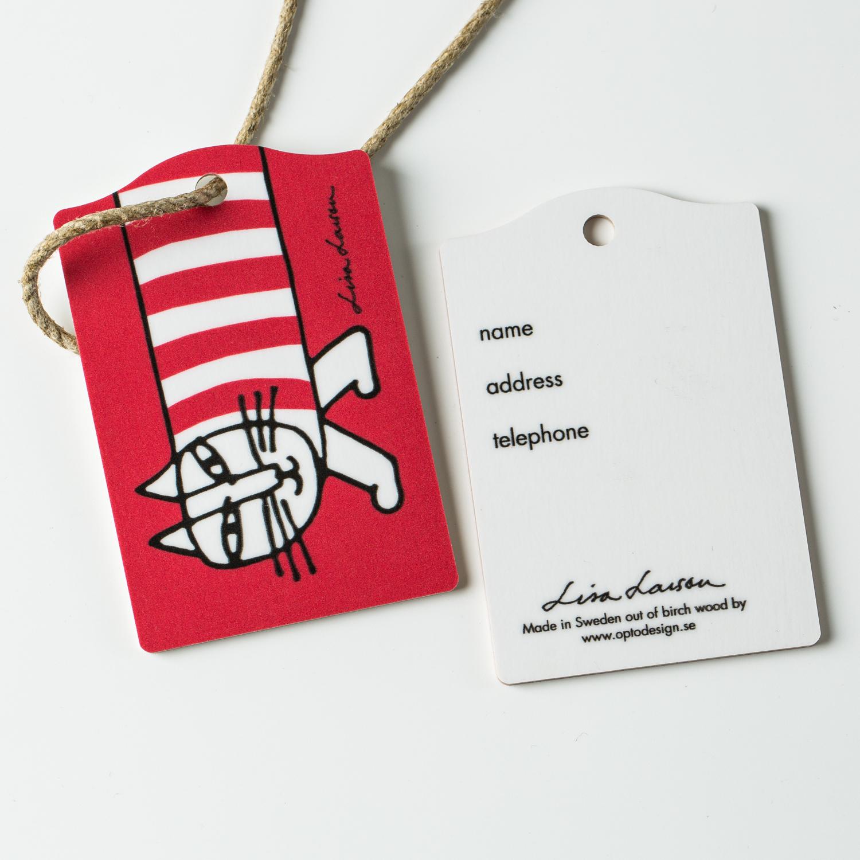 瑞典原产Optodesign 米琪猫系列木质行李牌旅行箱2只装 红色