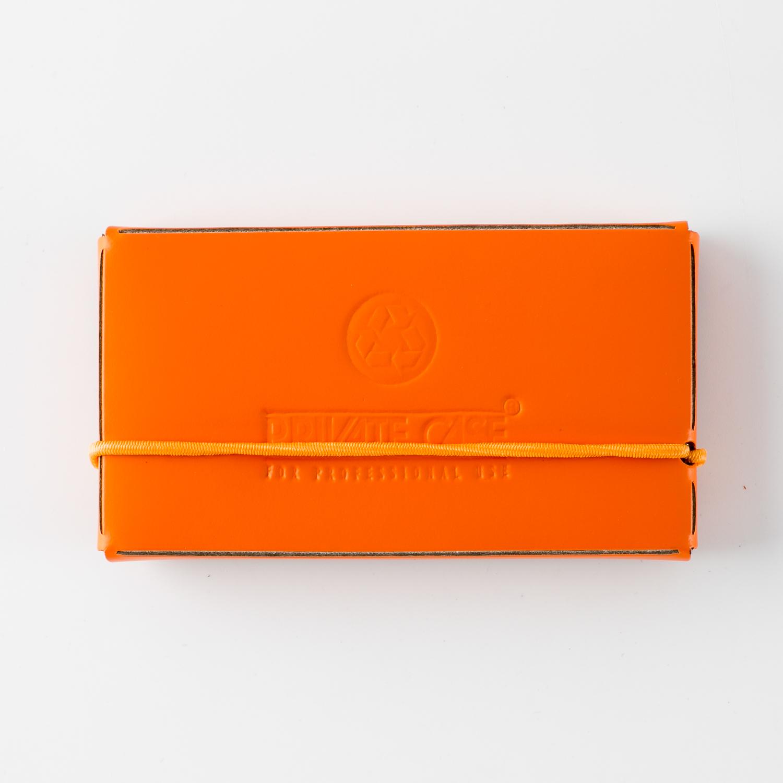 芬兰原产PRIVATE CASE 再生皮简约名片夹名片盒卡片包 橙色