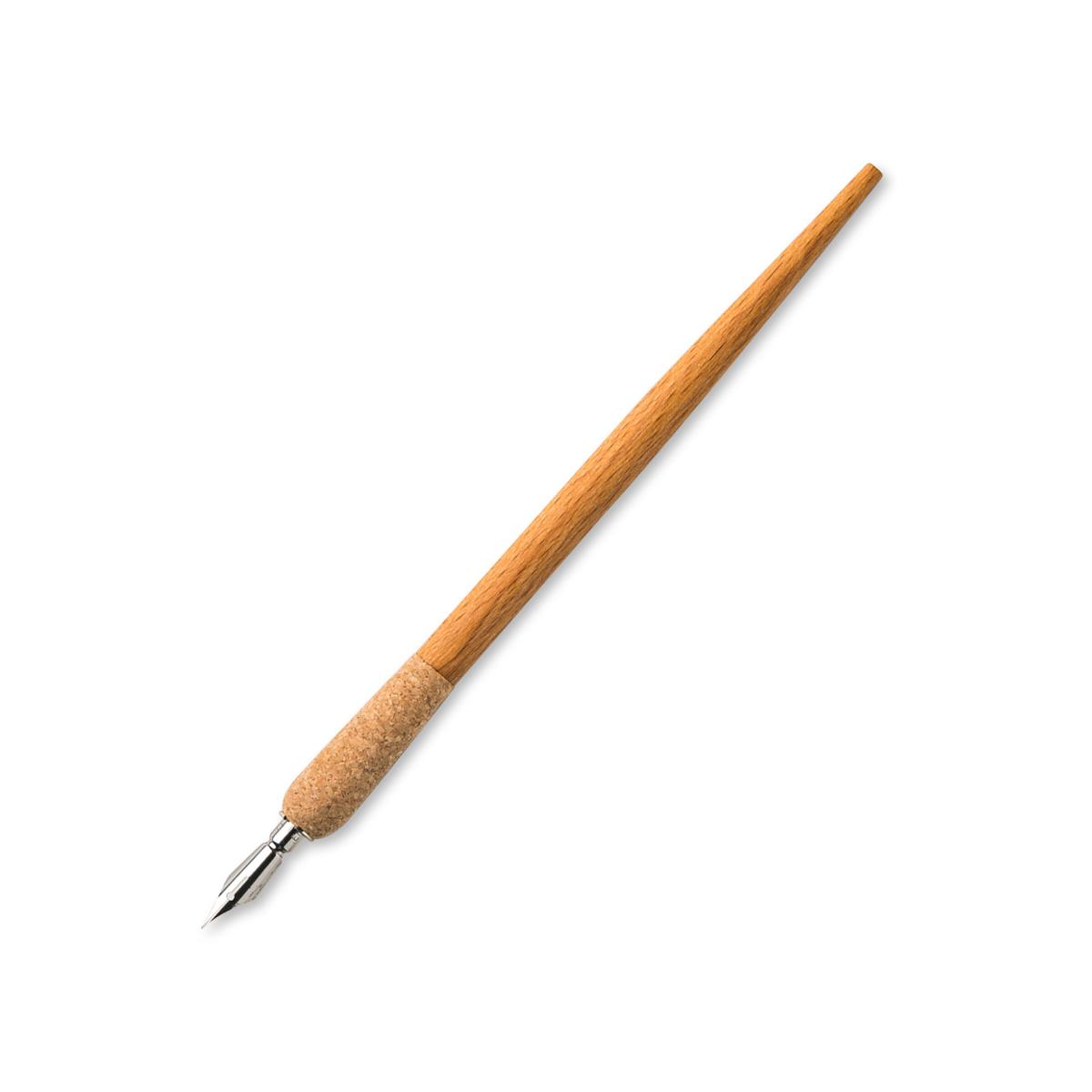 德国原产STANDARDGRAPH 木质笔杆蘸墨钢笔 黄色