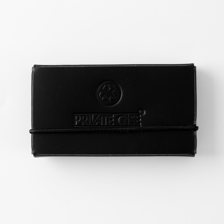 芬兰原产PRIVATE CASE 再生皮简约名片夹名片盒卡片包 黑色