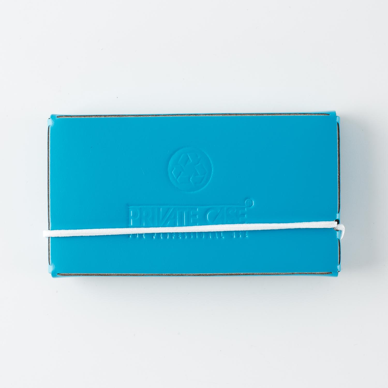 芬兰原产PRIVATE CASE 再生皮简约名片夹名片盒卡片包 蓝色