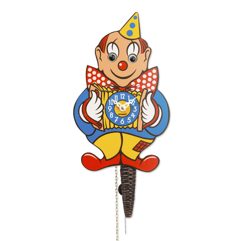 德国原产Engstler黑森林卡通机械钟表 小丑 蓝色