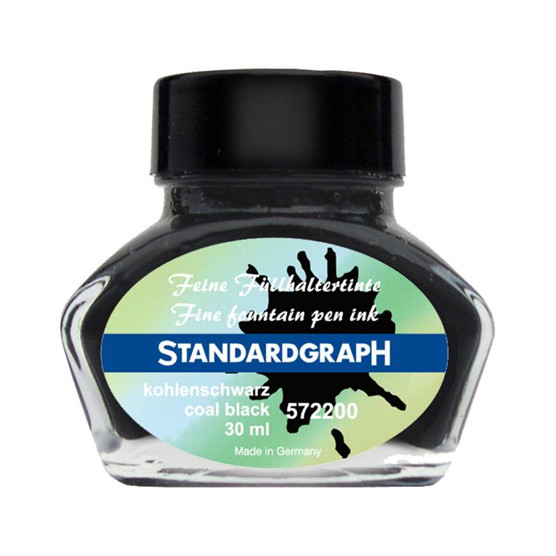 德国原产STANDARDGRAPH 书写专用墨水签字笔钢笔水笔专用 碳素黑