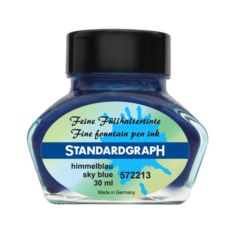德国原产STANDARDGRAPH 书写专用墨水签字笔钢笔水笔专用 天空蓝