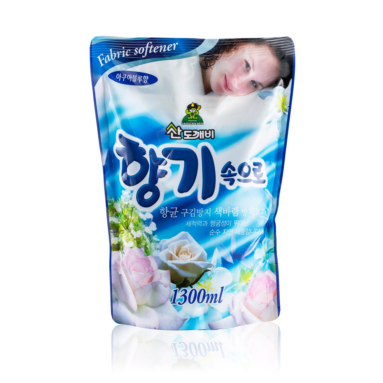 韩国原产Sandokkaebi山小怪多效衣物柔顺剂护理剂 海蓝香 海蓝香