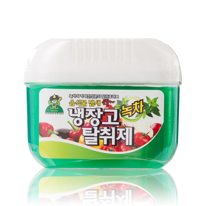 韩国原产Sandokkaebi山小怪植物萃取冰箱除臭除味保鲜剂 绿茶提取物