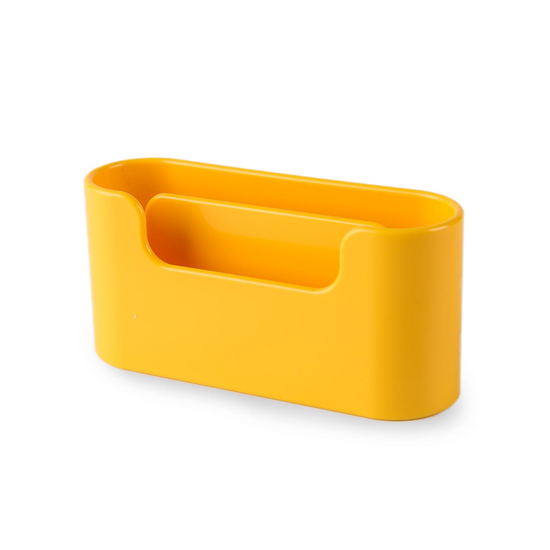 韩国原产aplum 双层商务名片盒收纳盒名片座 黄色
