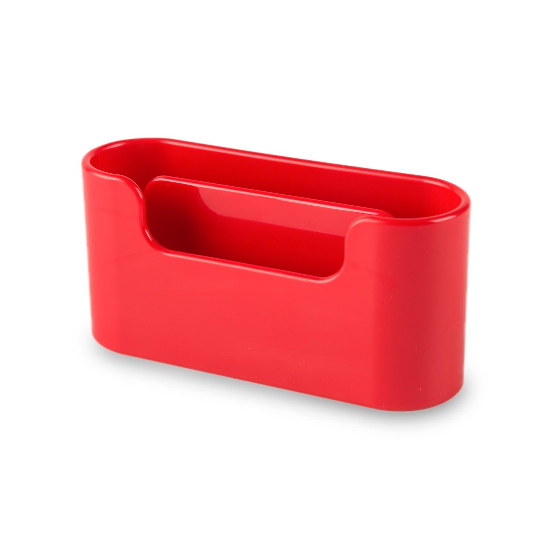 韩国原产aplum 双层商务名片盒收纳盒名片座 红色