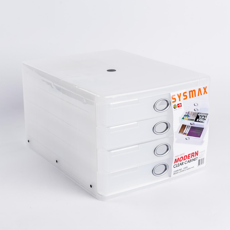 韩国原产SYSMAX MYROOM摩登透明4层文件盒 透明