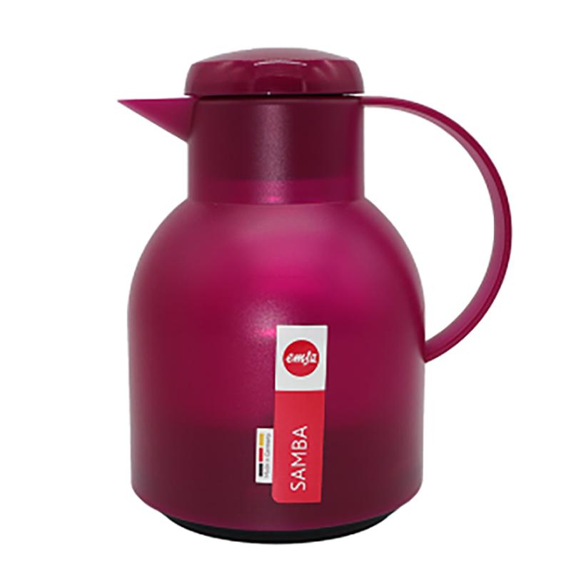德国原产EMSA保温壶保暖壶家用热水壶桑巴系列1L 玫红