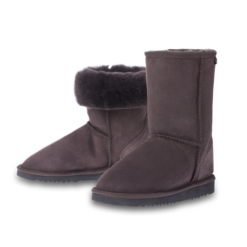 澳大利亚原产CHICEMPIRE羊皮雪地靴中筒靴 深咖啡 6码