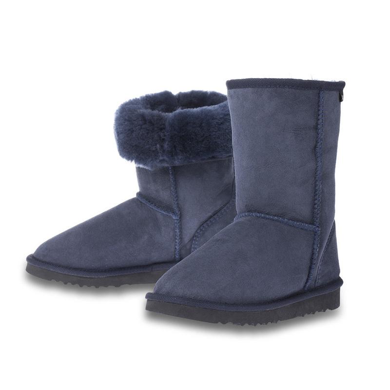澳大利亚原产CHICEMPIRE羊皮雪地靴中筒靴 海军蓝 6码