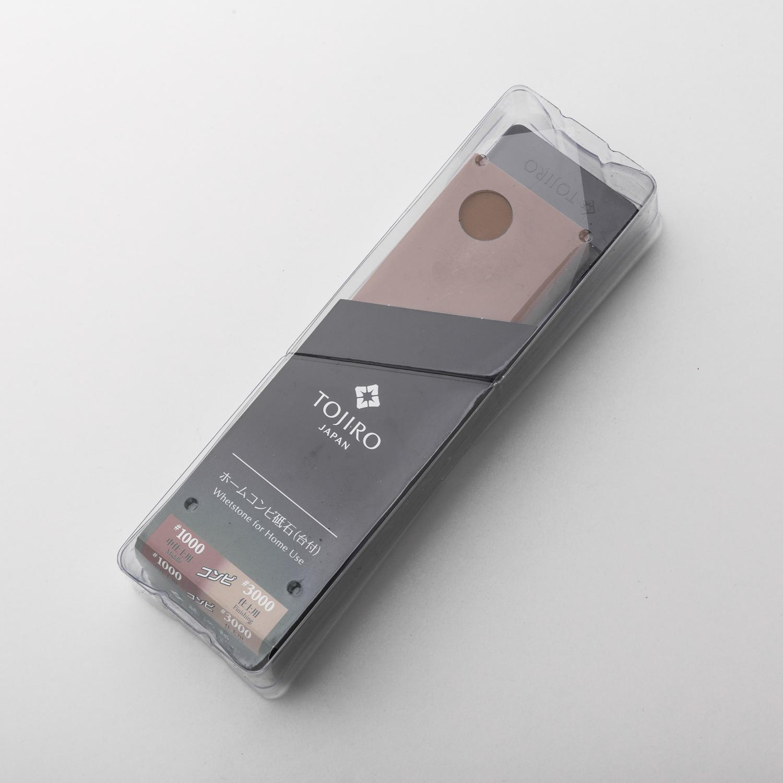 日本原产Tojiro藤次郎家用双面磨刀石砥石 #1000/#3000 F-433 红色