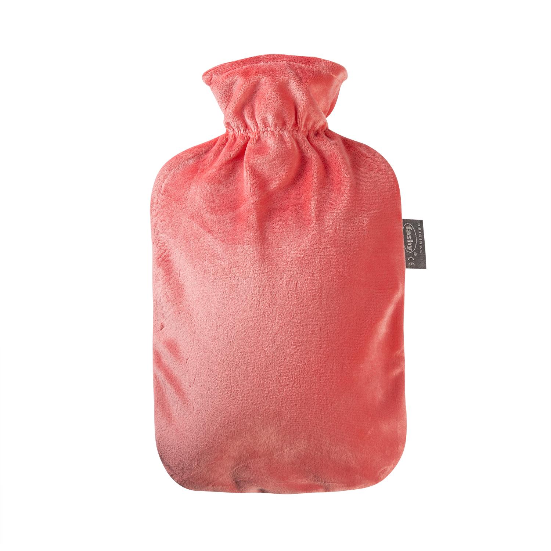 德国fashy热水袋经典毛绒款暖手袋 红色 S