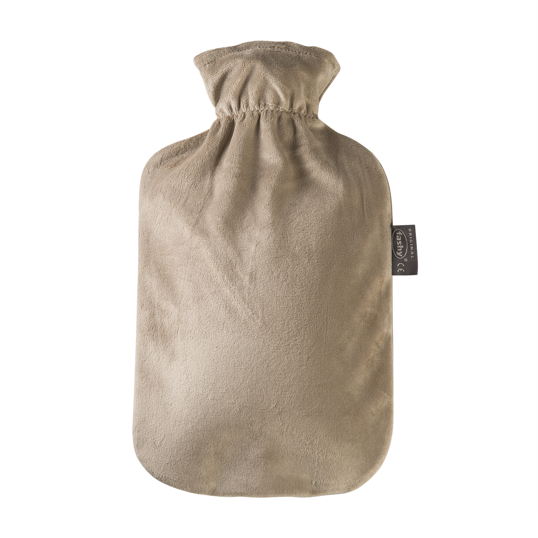 德国fashy热水袋经典毛绒款暖手袋 灰色 S
