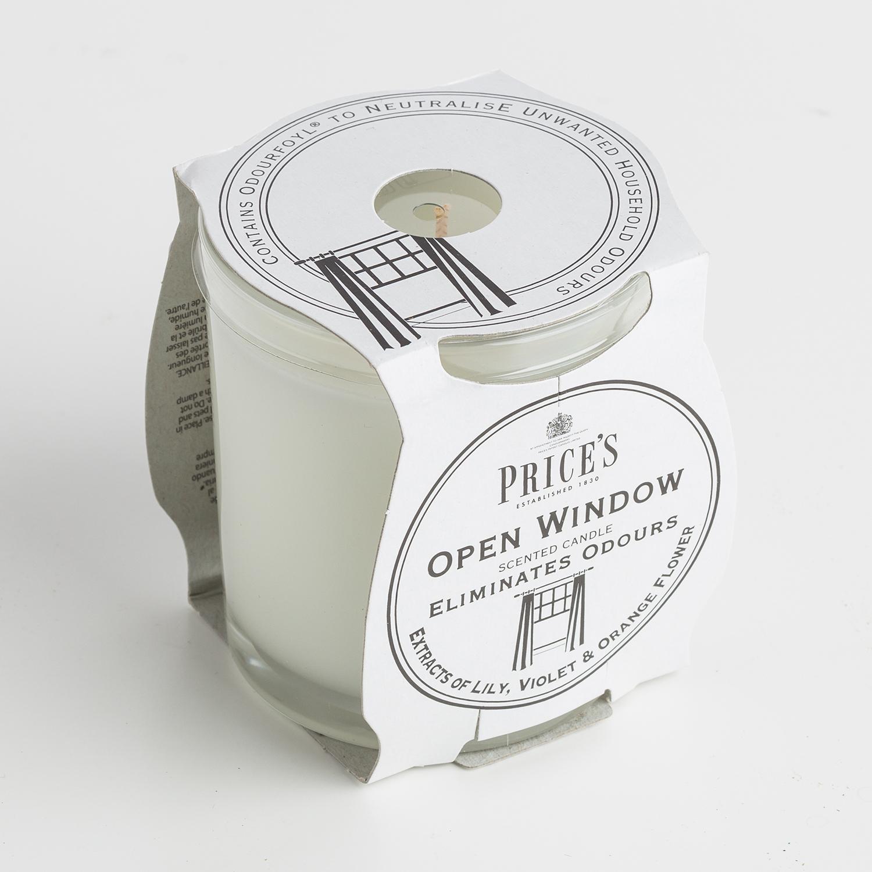 英国原产Price's玻璃香薰蜡烛香氛烛台柑橘百合香味 白色