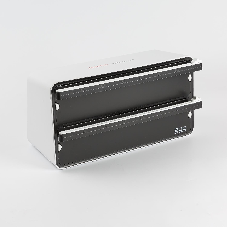 韩国原产DUPLEWRAP保鲜膜刀片切割器切割盒双层 白色