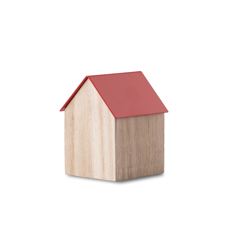 英国原产block储物房收纳盒 木质盒子+钢制盖子 红色 160x65x65mm