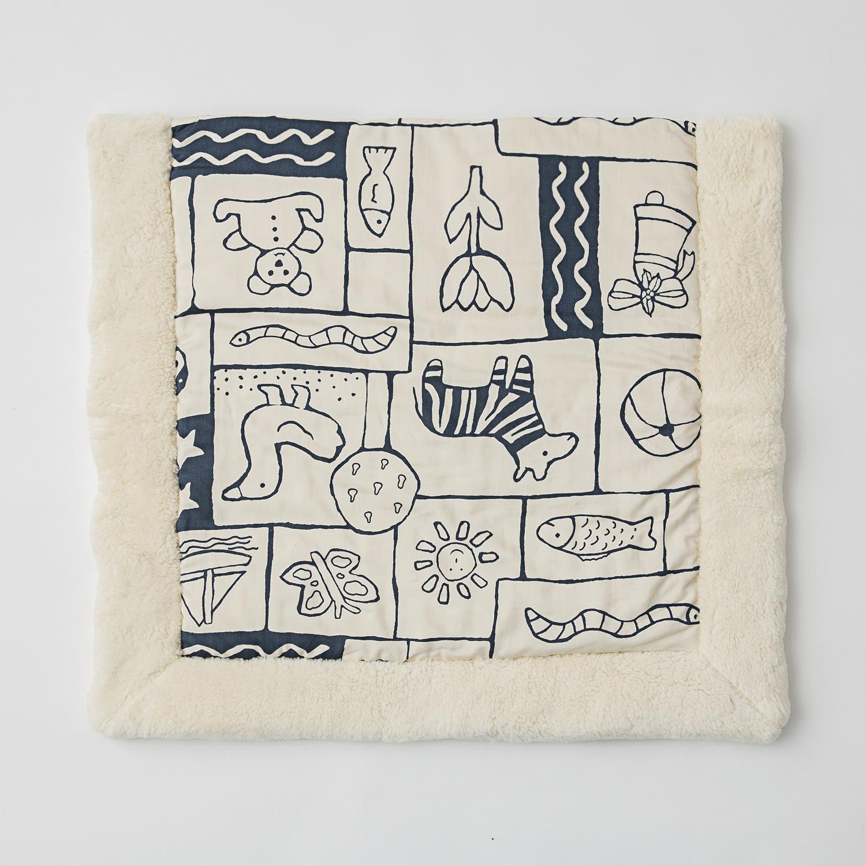德国原产Mudis有机棉全棉婴儿垫坐垫床垫垫子 深蓝
