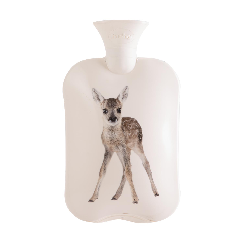德国原产fashy注水防爆热水袋暖手袋暖水袋 卡通图案 白色