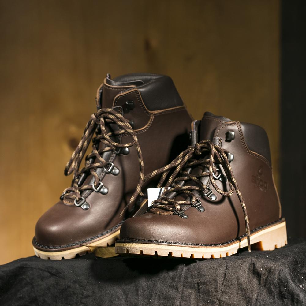 意大利原产alico阿里克专业户外TAHOE塔霍防滑耐磨鞋男士 深棕色 39