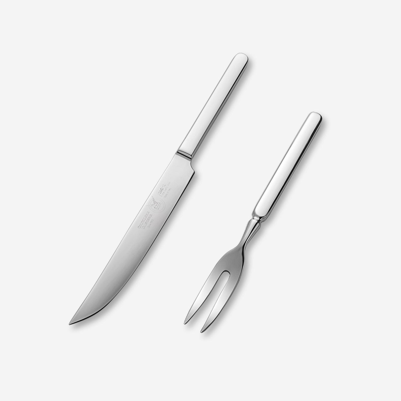 意大利原产VALGOBBIA西餐具不锈钢牛排刀叉子 2件套 银色