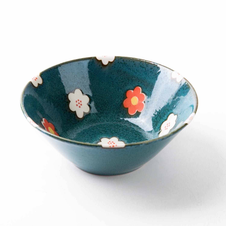日本原产AITO Nordic Flower美浓烧陶瓷碗碟花朵春意 餐碗