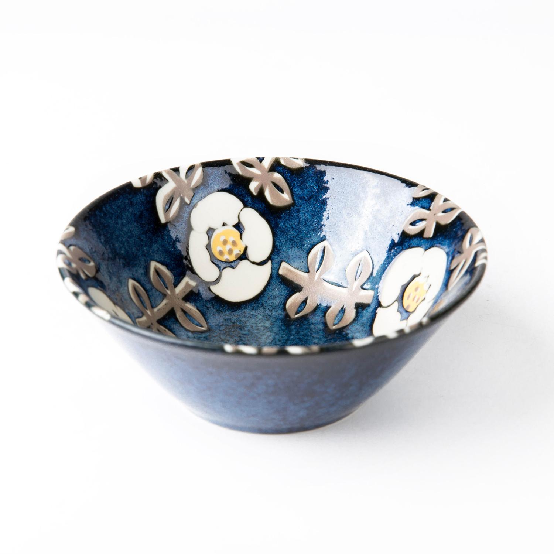 日本原产AITO Nordic Flower美浓烧陶瓷碗碟晚晴 餐碗