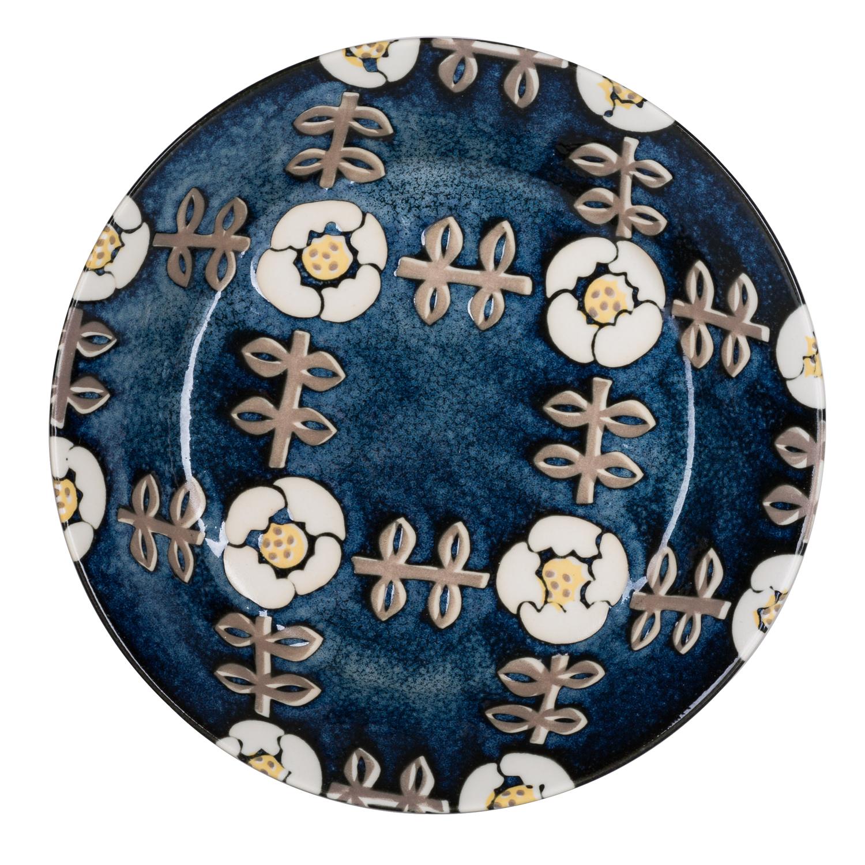 日本原产AITO Nordic Flower美浓烧陶瓷碗碟晚晴 餐碟