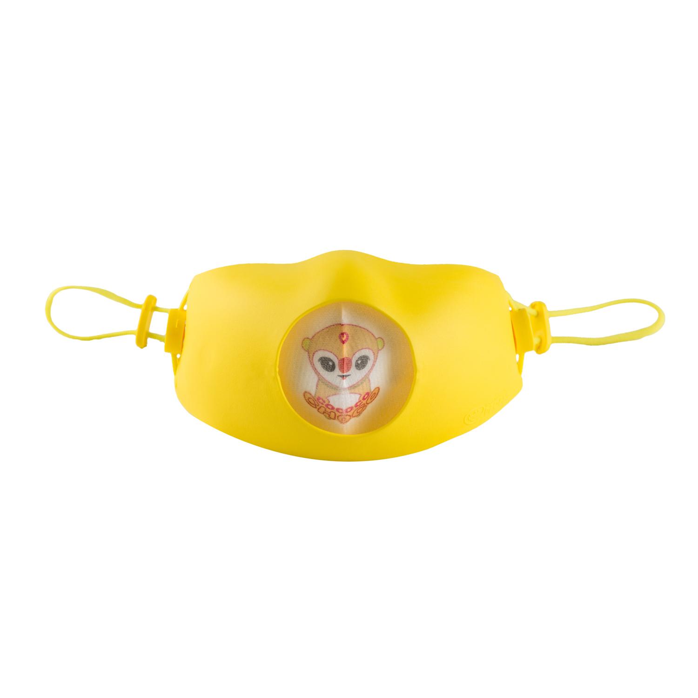 韩国原产Hoooah防雾霾儿童口罩防护口罩2-5岁 黄色
