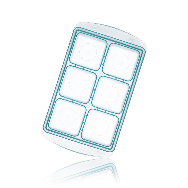 韩国原产RRE一粒粒食物储存格冰模制冰盒大款6格 蓝色