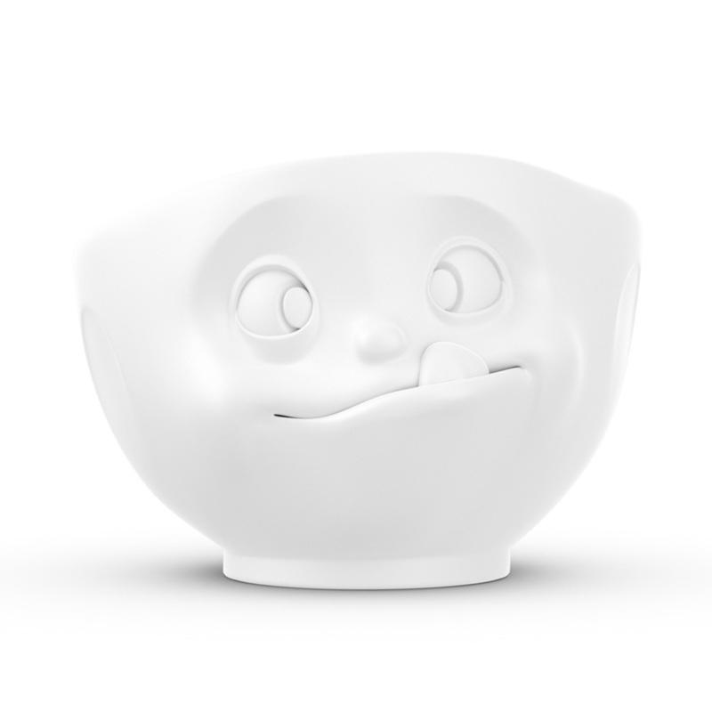 德国原产Tassen陶瓷卡通表情碗马特碗咖啡碗咖啡杯500ml 白色