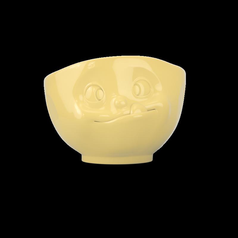 德国原产Tassen陶瓷卡通表情碗马特碗咖啡碗咖啡杯500ml 黄色