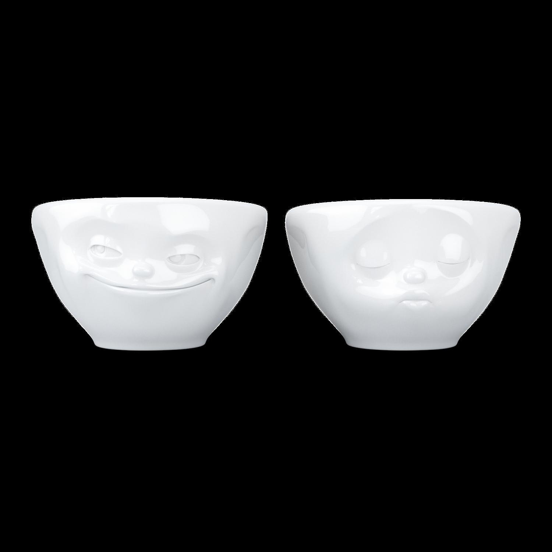 德国原产Tassen卡通表情碗小萌碗咖啡碗咖啡杯2件套200ml 亲亲与微笑