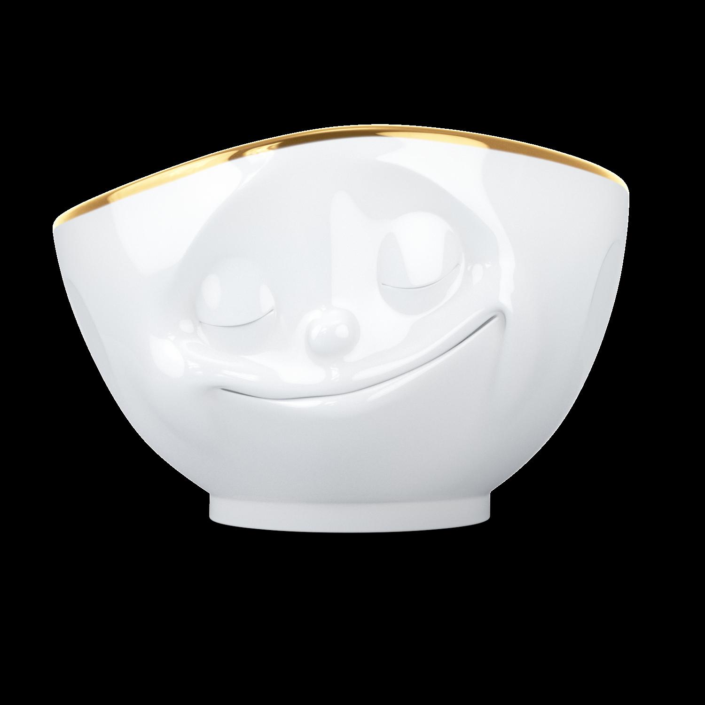 德国原产Tassen陶瓷卡通表情碗金边碗创意碗500ml 幸福