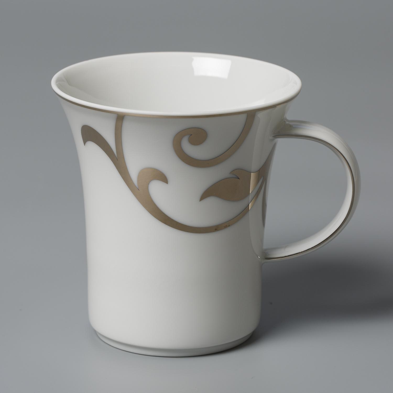 德国原产Seltmann Weiden铂金印花陶瓷水杯茶杯咖啡杯