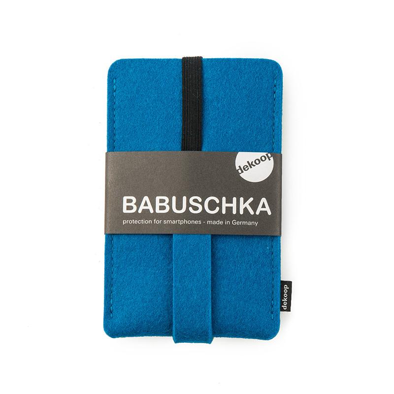 德国原产dekoop防摔毛毡手机保护套 蓝色