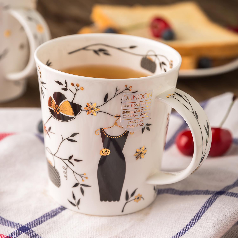 英国原产DUNOON丹侬lomond型骨瓷茶杯水杯马克杯时尚长裙 混色