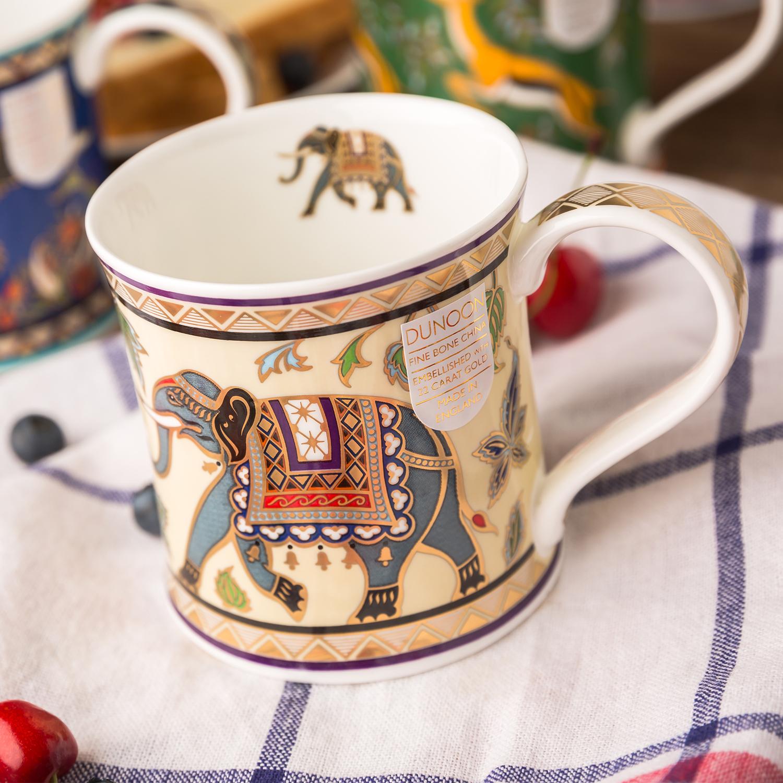 英国原产DUNOON丹侬 Wessex型骨瓷茶杯水杯 骨瓷马克杯 阿拉伯大象