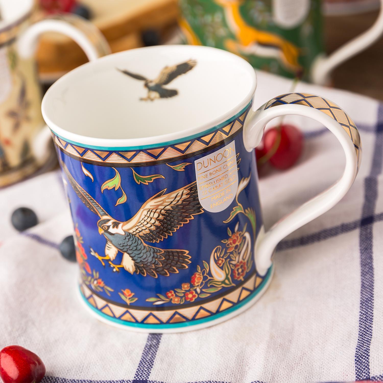 英国原产DUNOON丹侬 Wessex型骨瓷茶杯水杯 骨瓷马克杯 阿拉伯猎鹰