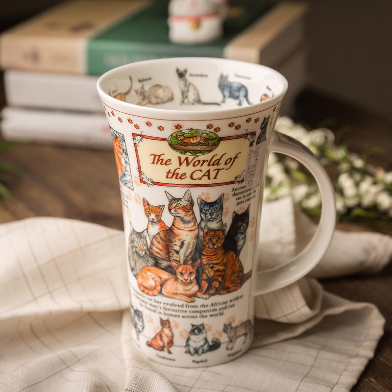 英国DUNOON丹侬 峡谷型骨瓷茶杯水杯 骨瓷马克杯猫的世界