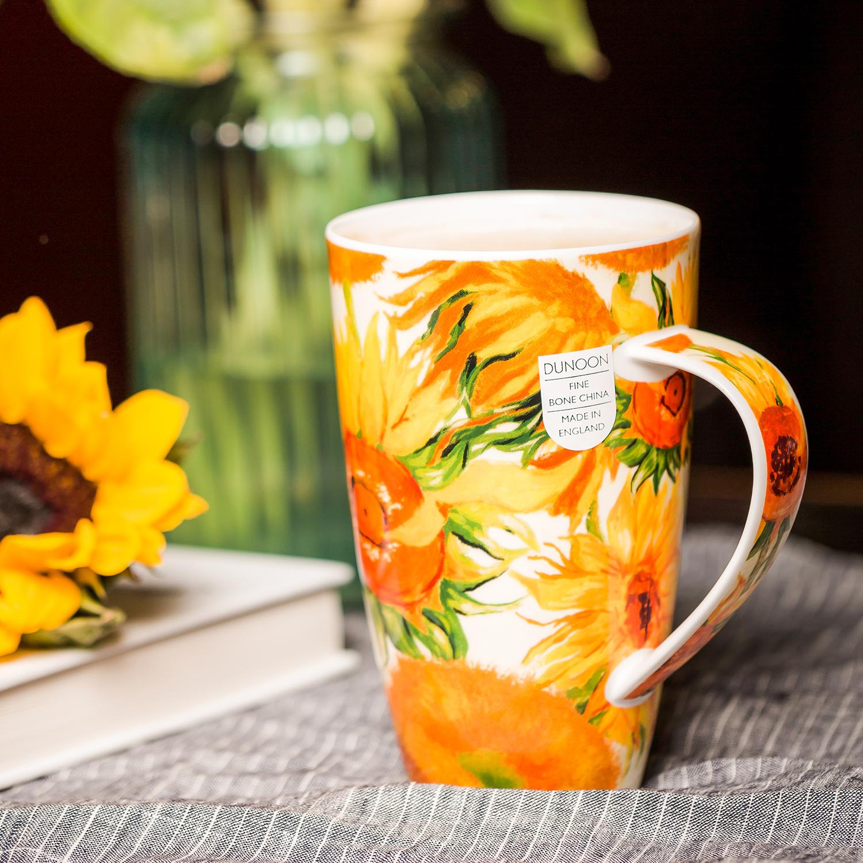 英国原产DUNOON丹侬 骨瓷茶杯水杯 骨瓷马克杯向日葵 梵高-向日葵